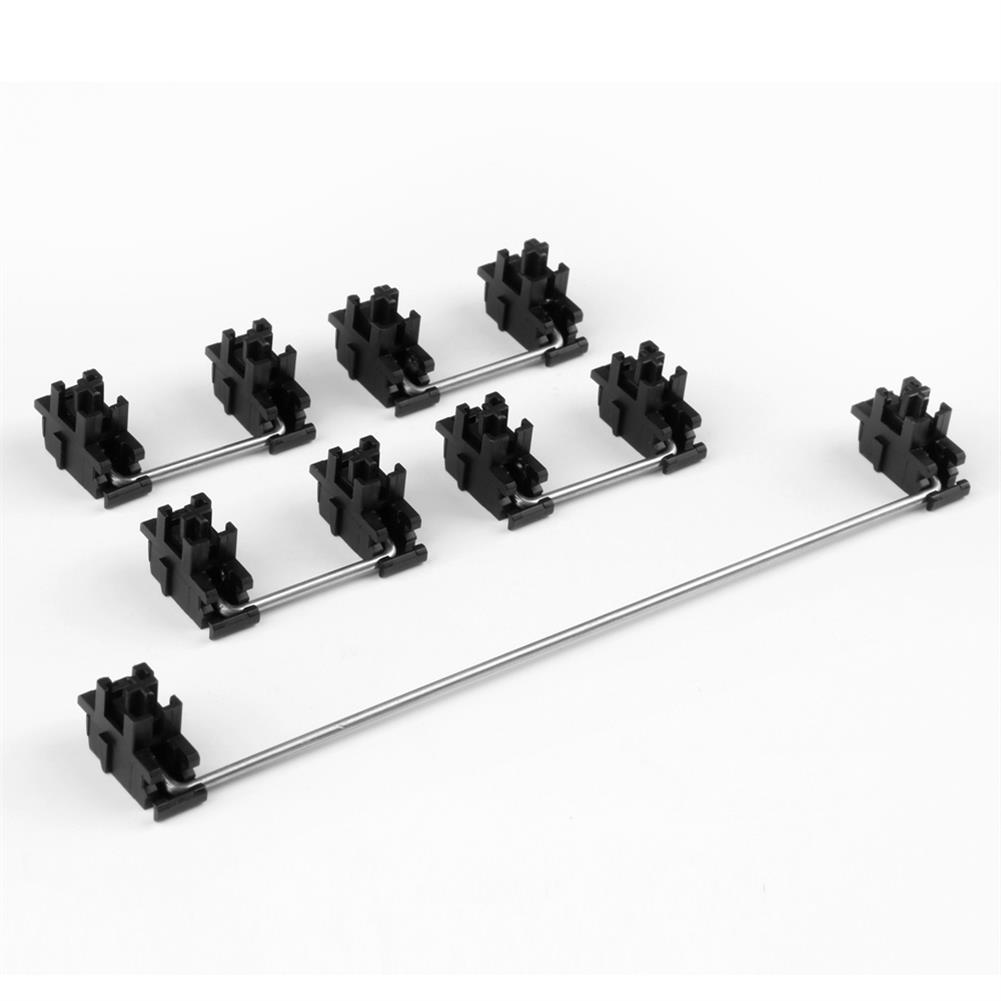 keycaps-switches Gateron Black Steel Plate-Mount Stabilizer Set for Mechanical Keyboard 60% Shaft Large Key Lubrication Tuning Modification Accessories HOB1801891 1 1