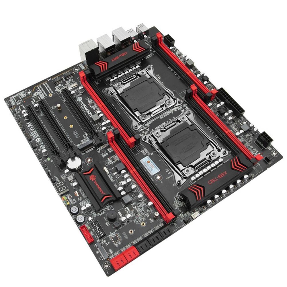 motherboard HUANANZHI X99Dual-T8D Motherboard LGA 2011-3 E5 V3 with 8 DDR3 DIMM Dual M.2 SSD Slots Dual Giga LAN Port 10 SATA3.0 HOB1801898 1 1