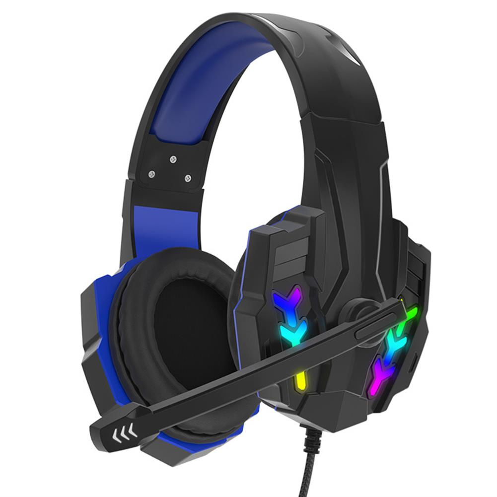 headphones MAIHA I3000 Gaming Headset 40mm Unit 360 Stereo RGB lights Omnidirectional Noise Reduction Microphone Support Phones Laptops PC HOB1802073 1