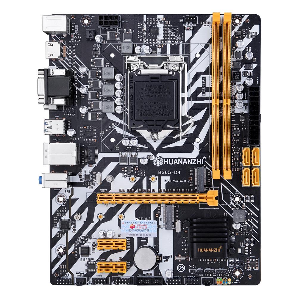 motherboard HUANANZHI B365-D4 Motherboard M-ATX intel LGA 1151 Support 6/7/8/9 Generation DDR4 2133/2400/2666MHz 32GB M.2 SATA3 USB3.0 HDMI HOB1802239 1