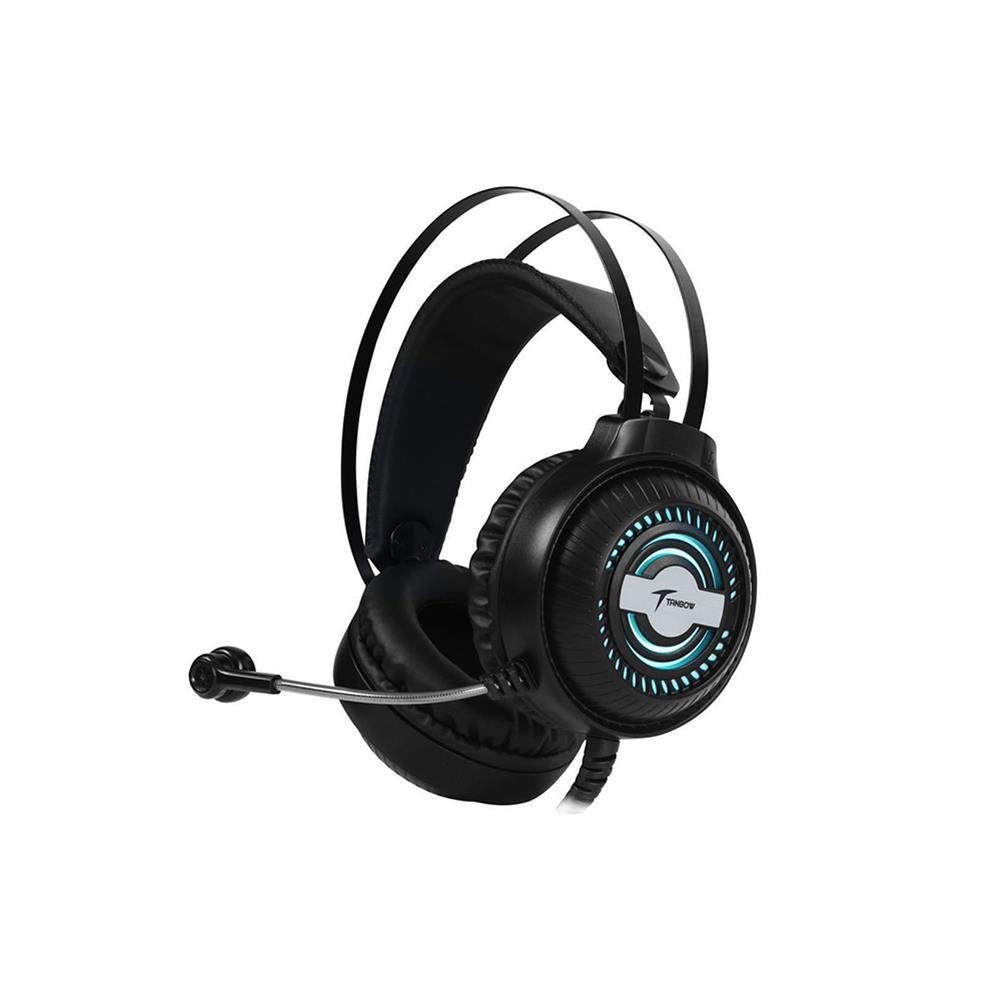 headphones TANBOW C4 Gaming Headset Virtual 7.1 Channel 50mm Unit RGB Light USB Plug Skin-friendly and Breathable Earmuffs for PC HOB1802351 1
