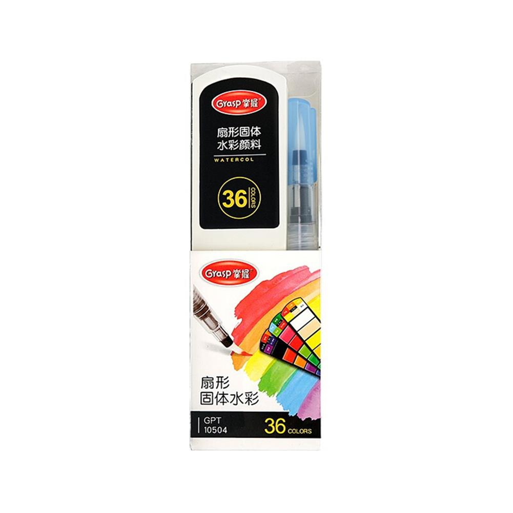 watercolor-paints 18/24/36/42 Colors Watercolor Pigment Washable Fan Shaped Solid Watercolor Pigment Brush for Student Artist Drawing HOB1802370 3 1