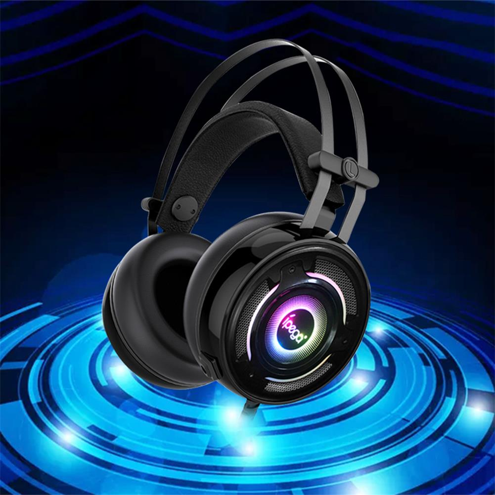headphones ipega PG-R008 Wired Gaming Headphone 50mm Speaker 3.5mm Audio & USB Plugs with Mic Headset for PC Console Gaming HOB1802632 2 1