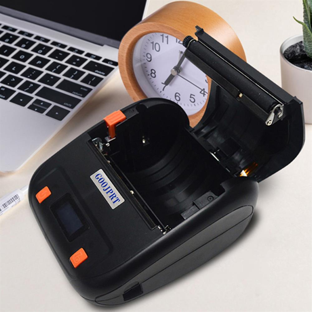 printers GOOJPRT MTP-4A thermal Label Printer Bluetooth Wireless Mini Portable Adhesive Sticker Paper Label Printer Machine HOB1802824 2 1