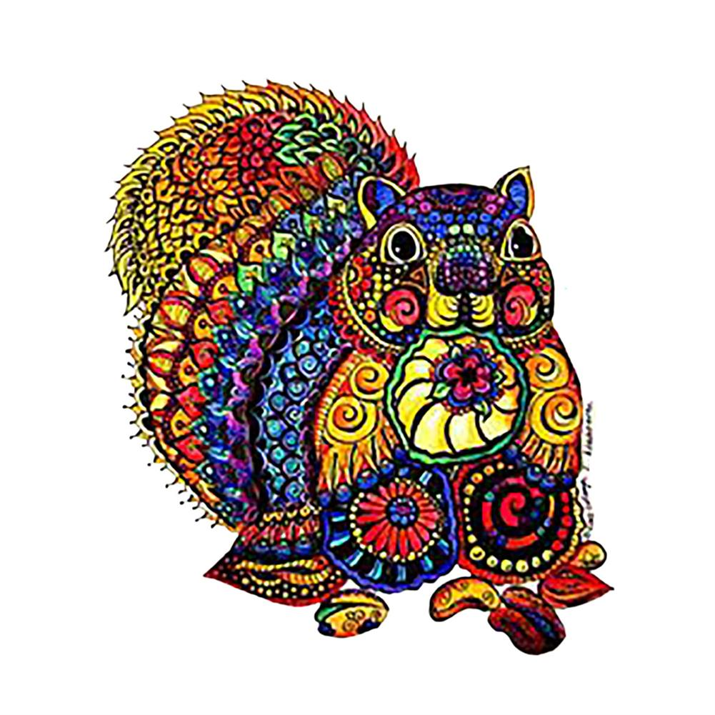 other-learning-office-supplies A3/A4/A5 Wooden Puzzles 3D Squirrel Pattern Puzzle Colorful Mysterious Charming Early Education Puzzle Art Toys Gifts for Childrens Adults HOB1802993 1 1