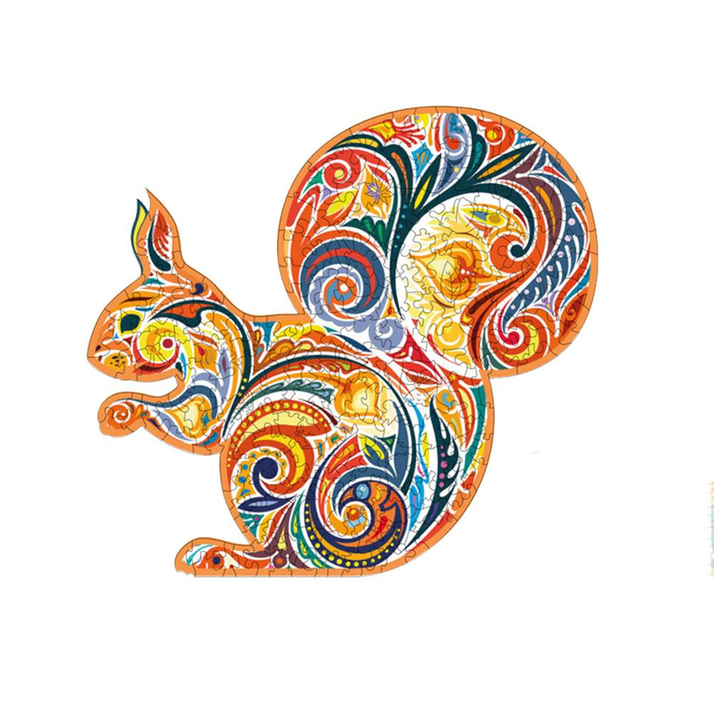 other-learning-office-supplies A3/A4/A5 Wooden Squirrel Pattern Puzzle Colorful Mysterious Charming Early Education Puzzle Art Toys Gifts for Childrens Adults HOB1803088 1