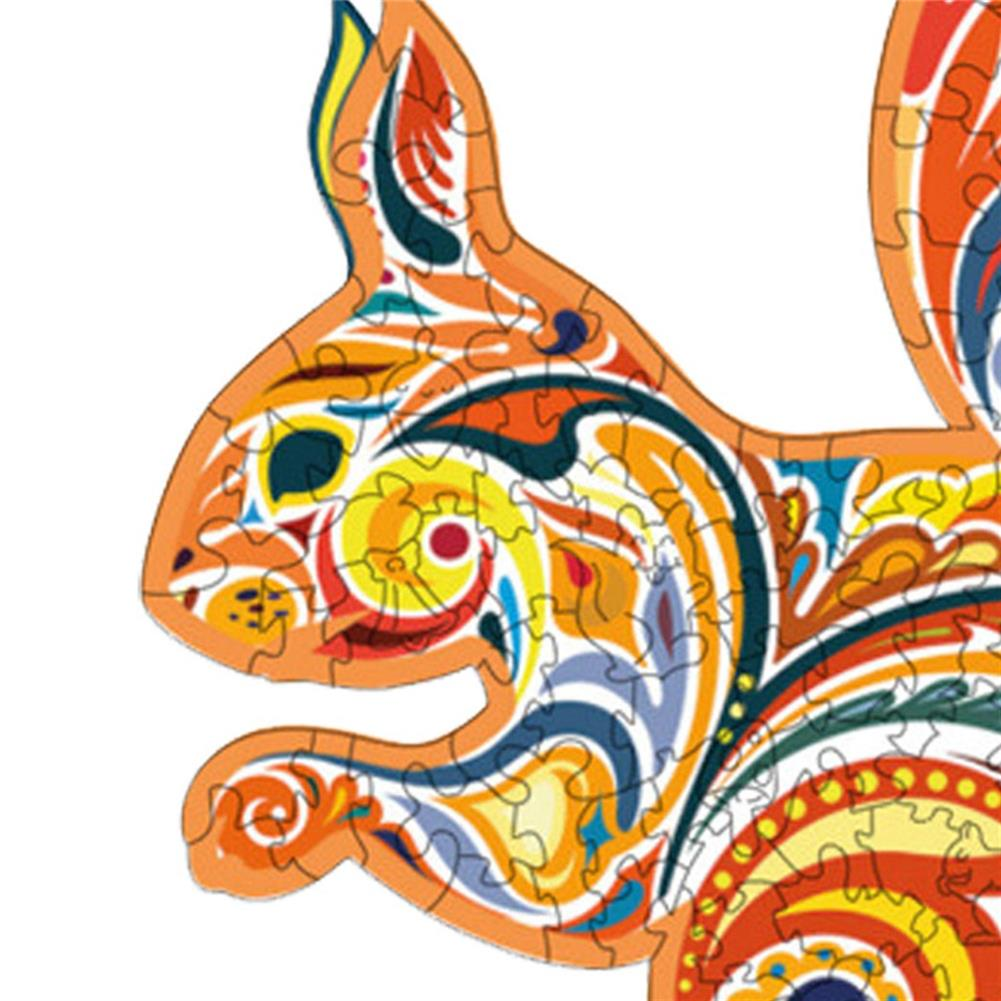 other-learning-office-supplies A3/A4/A5 Wooden Squirrel Pattern Puzzle Colorful Mysterious Charming Early Education Puzzle Art Toys Gifts for Childrens Adults HOB1803088 1 1