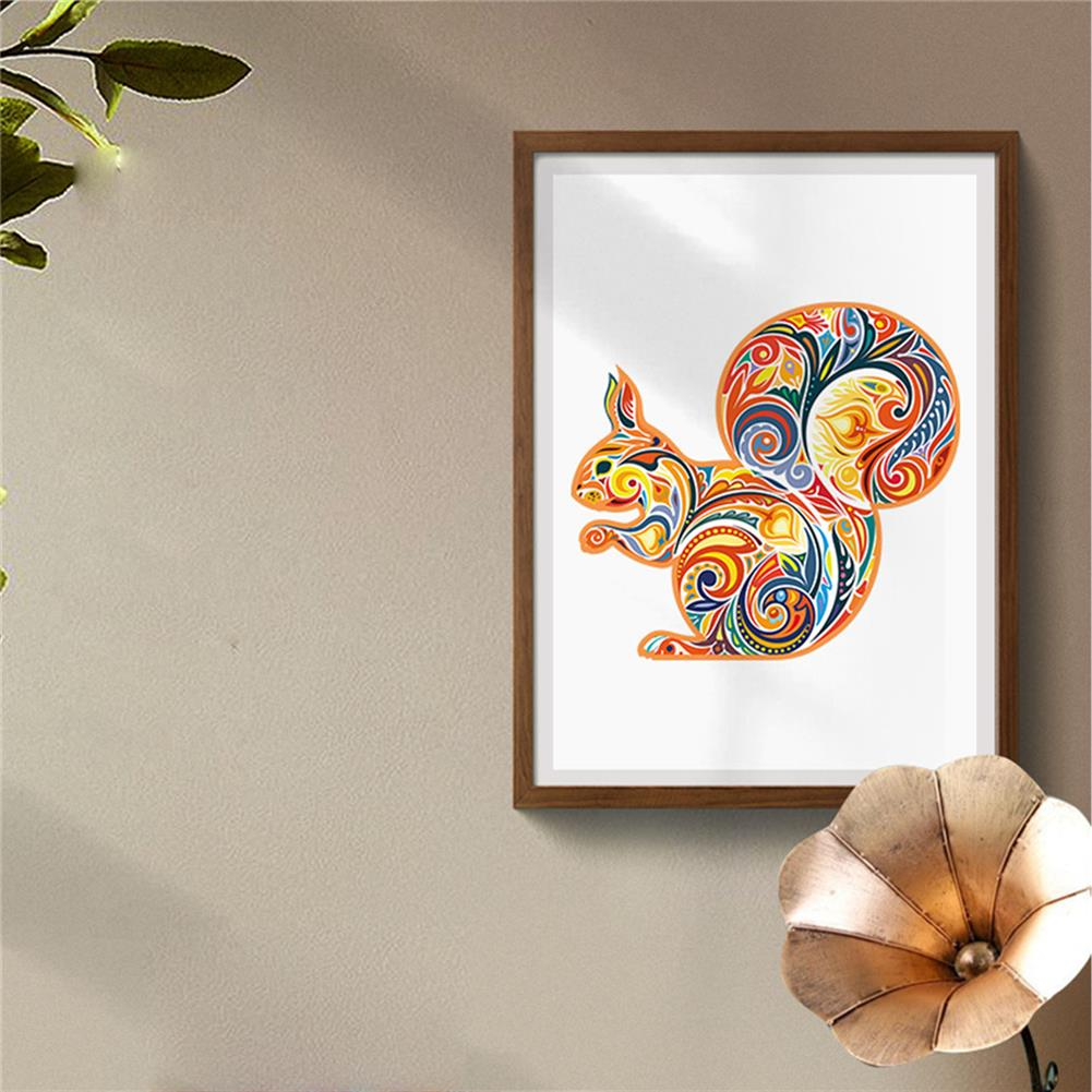 other-learning-office-supplies A3/A4/A5 Wooden Squirrel Pattern Puzzle Colorful Mysterious Charming Early Education Puzzle Art Toys Gifts for Childrens Adults HOB1803088 3 1