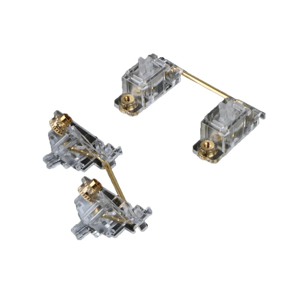 keycaps-switches Transparent PCB Screw-inStabilizer Set for Mechanical Keyboard 60% Shaft Large Key Lubrication Tuning Modification Accessories HOB1803165 1 1
