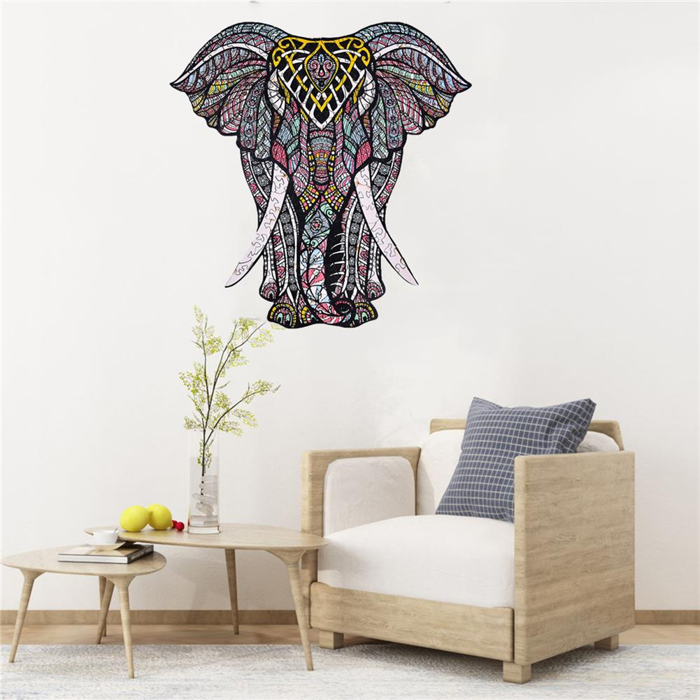 other-learning-office-supplies A3/A4/A45 Wooden Elephant Jigsaw Puzzle Unique Animal Shape Toy Mysterious Charming Early Education Gift for Kid Children Adults HOB1803470 3 1