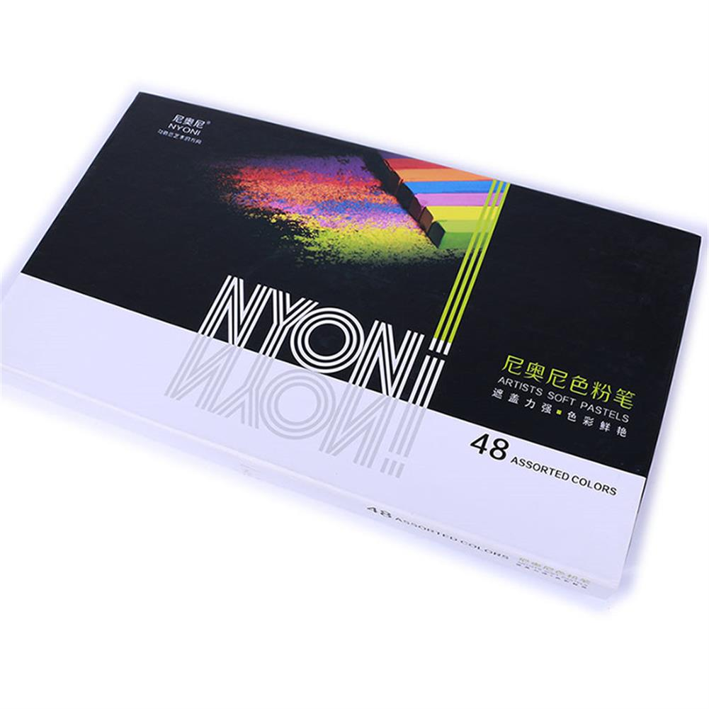 art-kit NYONI 12/24/48 Color Oil Pastel Color Chalk Soft Art Drawing Color Crayon Set Stationery Student Graffiti Painting Tool HOB1803558 3 1