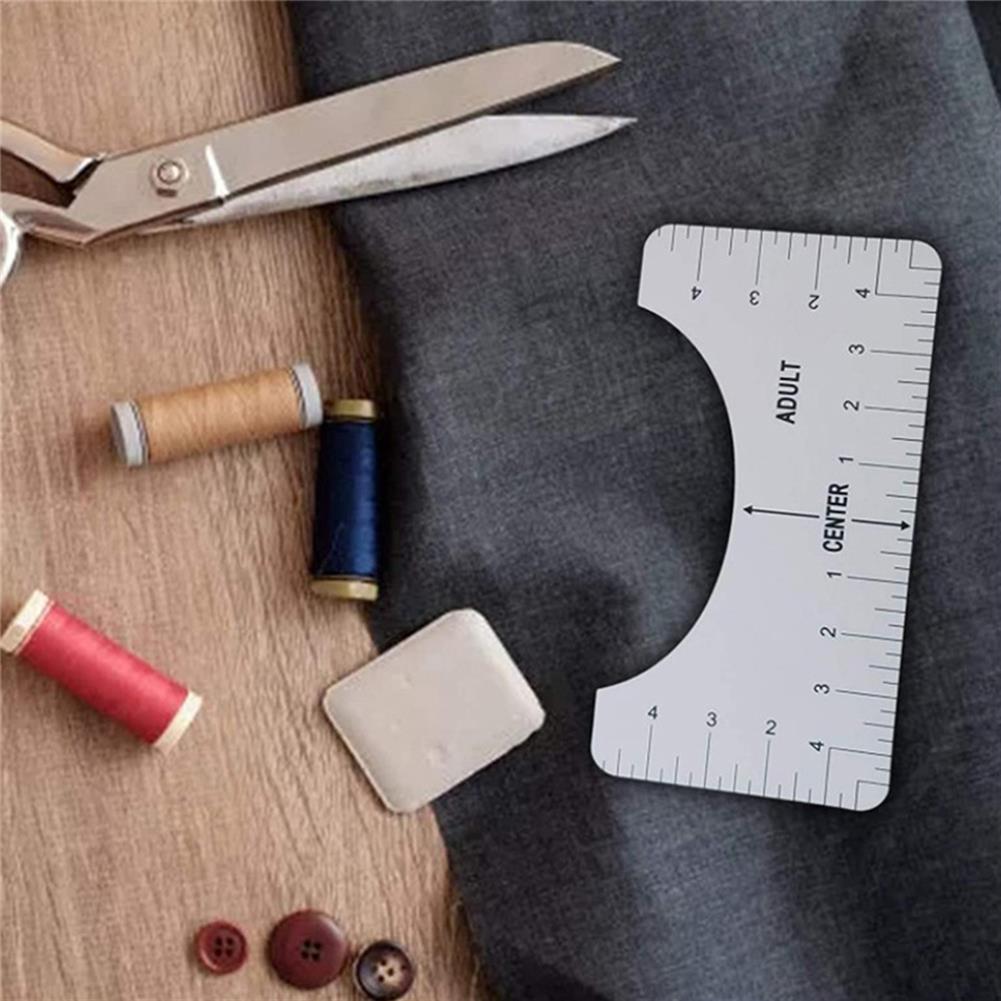 ruler 4Pcs T-Shirt Ruler Set Guide Vinyl Tee Rulers Sublimation Designs on T-shirt High Precision T-Shirt Alignment Tool HOB1803590 1 1