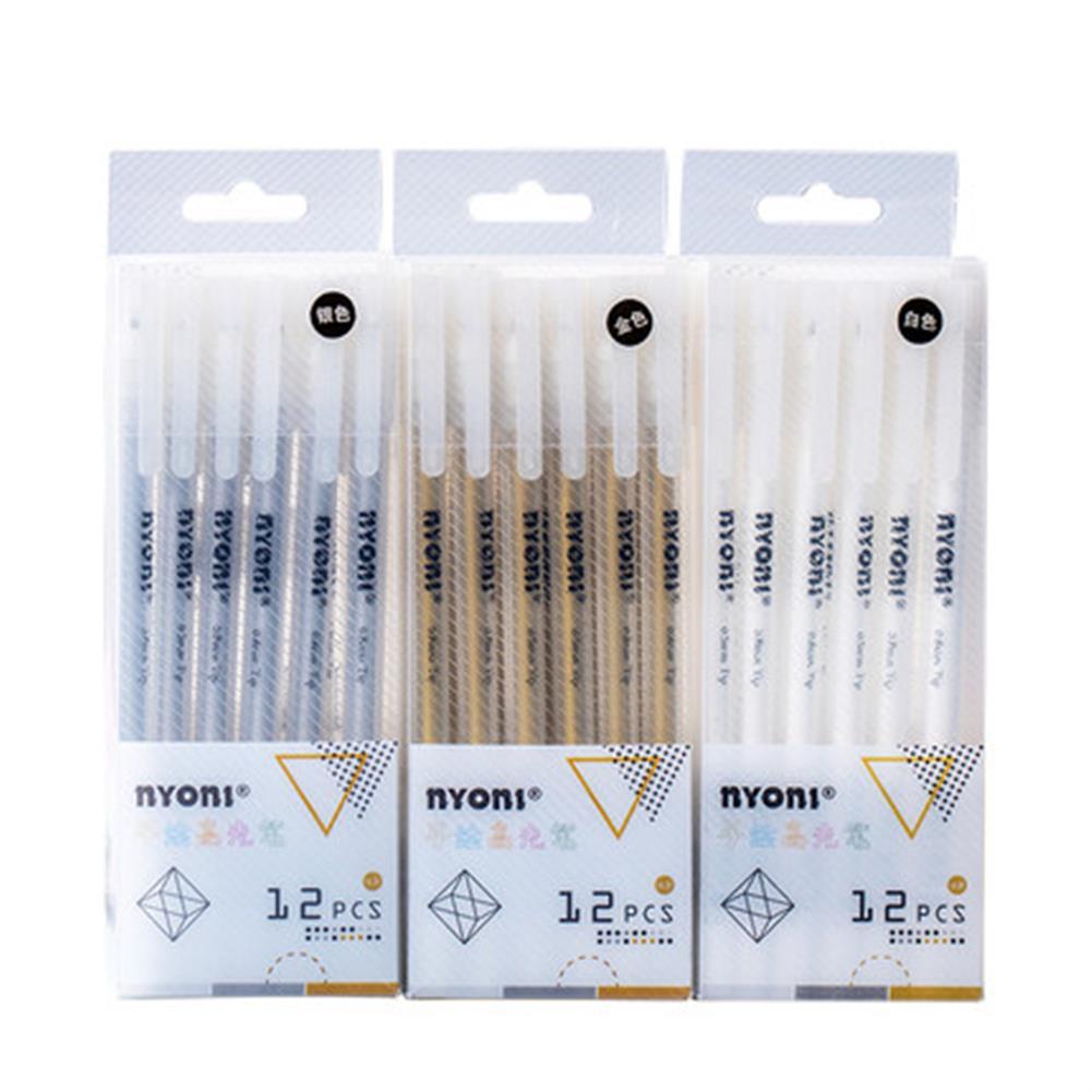 highlighter NYONI 12pcs/box Hand Highlighter Pen Drawning Multicolor Paint Marker Pens Stationery Student Supplies Marker Craftwork Pen HOB1803598 1