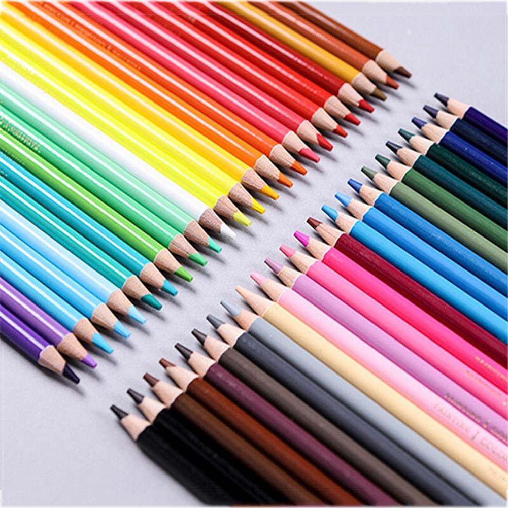 pencil NYONI 36/48/72/120 Colors Professional Oil Color Pencil Set Hand-Painted Sketching Pen Stationery for School office Art Supplies HOB1803626 1 1