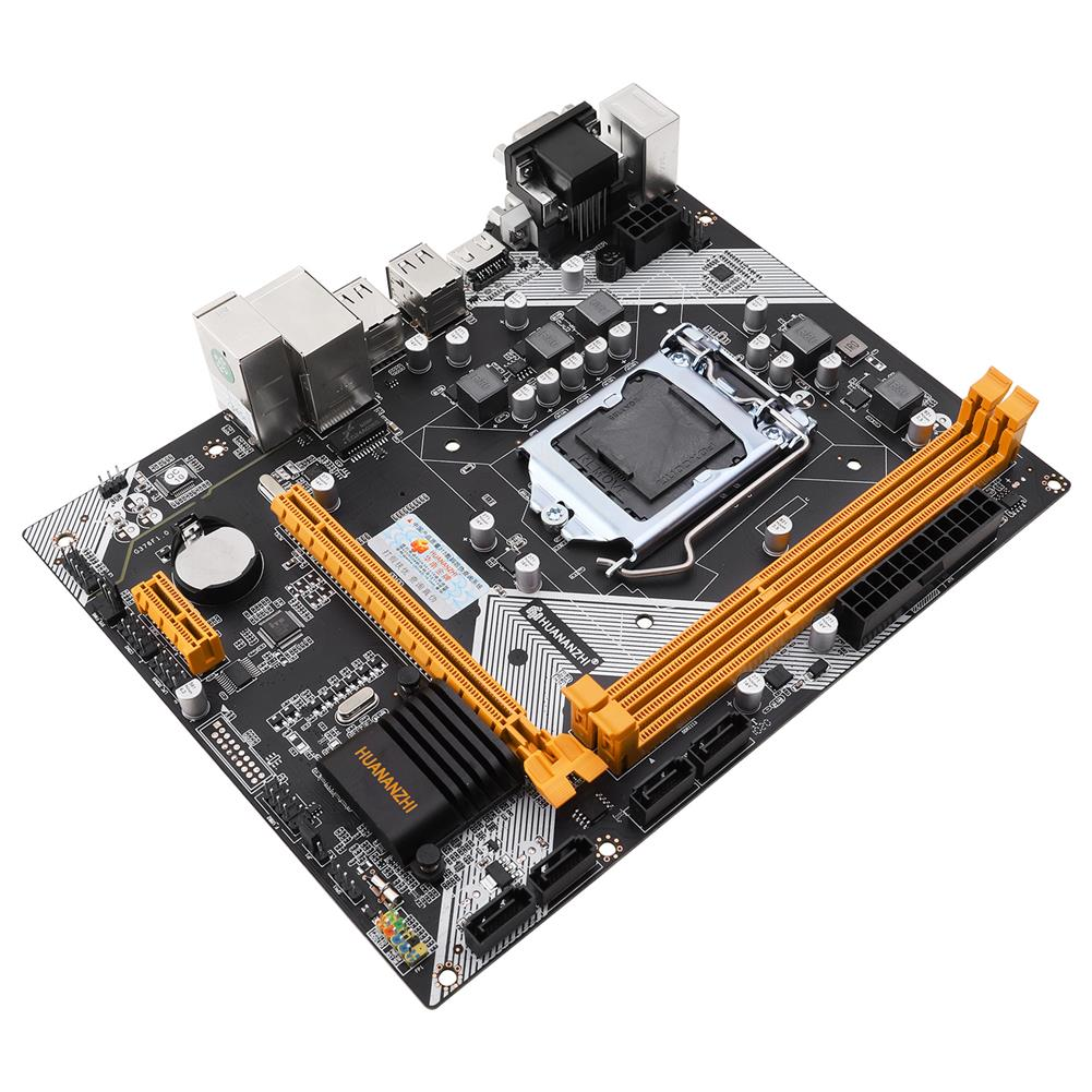 motherboard HUANANZHI H61 Motherboard M-ATX for intel LGA 1155 Support i3 i5 i7 DDR3 1333/1600MHz 16GB SATA2.0 USB2.0 VGA+HDMI HOB1803804 1 1