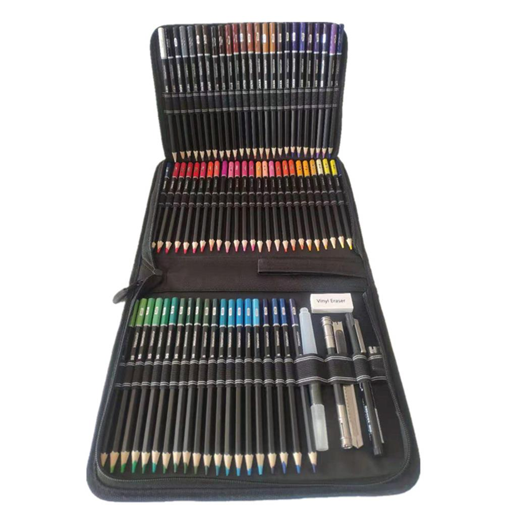 art-kit 78pcs Water Soluble Color Pencil Set Zipper Package Multi-Color Lead Painting Pencil Tool Stationery office Supplies HOB1804127 1