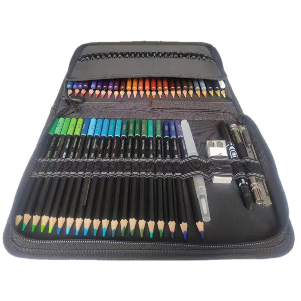art-kit 78pcs Water Soluble Color Pencil Set Zipper Package Multi-Color Lead Painting Pencil Tool Stationery office Supplies HOB1804127 2 1