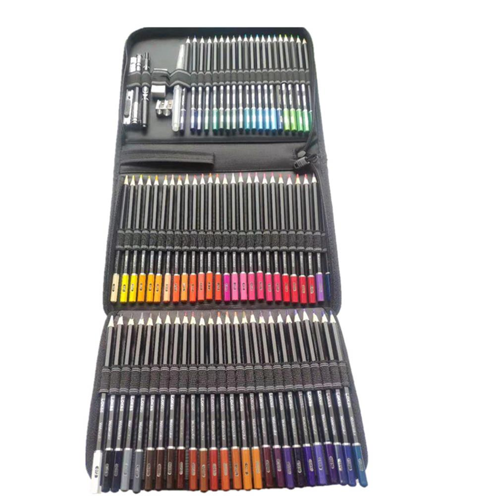 art-kit 78pcs Water Soluble Color Pencil Set Zipper Package Multi-Color Lead Painting Pencil Tool Stationery office Supplies HOB1804127 3 1
