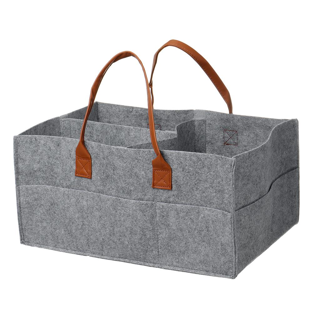 other-learning-office-supplies Multifunctional Storage Bag Felt Fabric Lightweight Removable Dividers Free Combination Storage Bag Diapers Baby Accessories Holder HOB1804352 1