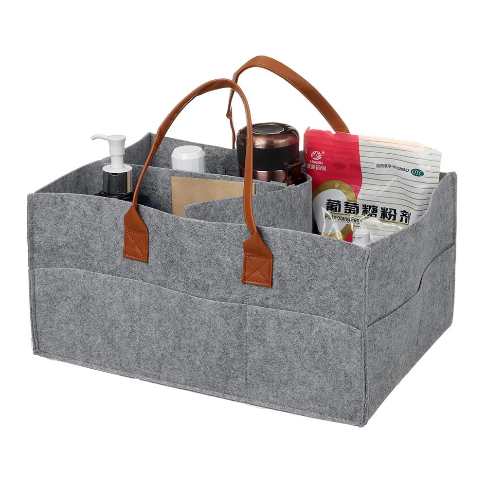 other-learning-office-supplies Multifunctional Storage Bag Felt Fabric Lightweight Removable Dividers Free Combination Storage Bag Diapers Baby Accessories Holder HOB1804352 3 1