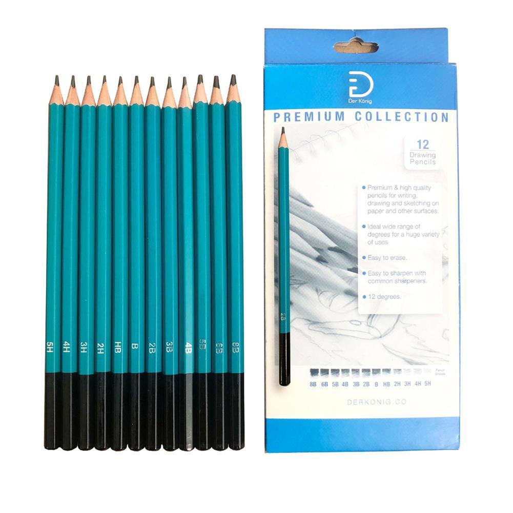 art-kit 12pcs Sketching Pencil Set Professional Art Engineering Drawings Pencil Tool for Beginner Stationery School Art Supplies HOB1804581 1