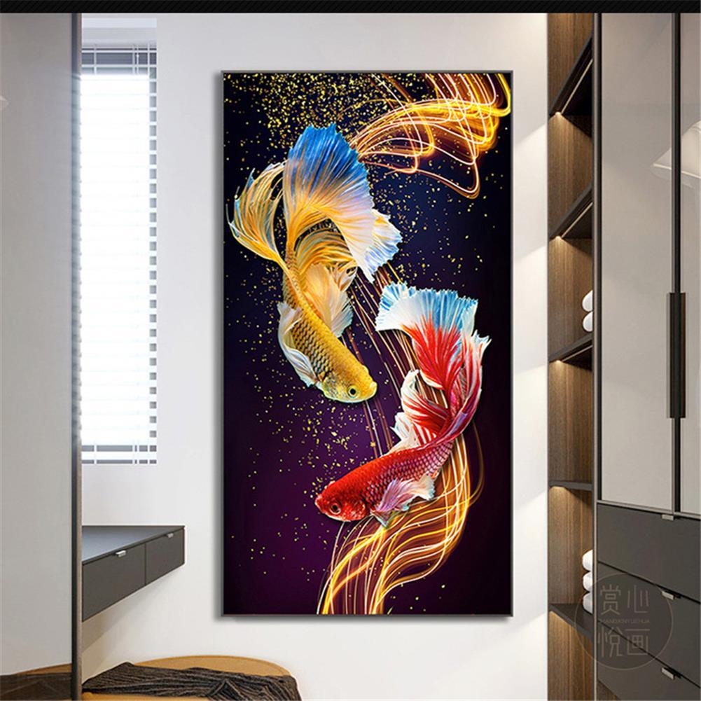 art-kit DIY 5D Diamond Painting Goldfish Diamond Embroidery Cross Stitch Full Drill Christmas Gift Home office Wall Decoration HOB1804589 1 1