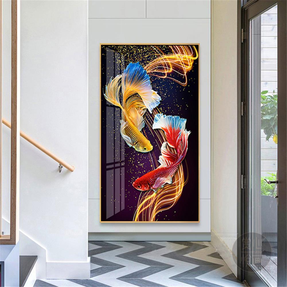 art-kit DIY 5D Diamond Painting Goldfish Diamond Embroidery Cross Stitch Full Drill Christmas Gift Home office Wall Decoration HOB1804589 2 1
