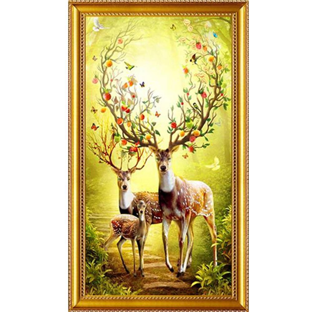 art-kit DIY 5D Diamond Painting Animal Deer Diamond Embroidery Cross Stitch Full Drill Christmas Gift Home office Wall Decoration HOB1804601 1