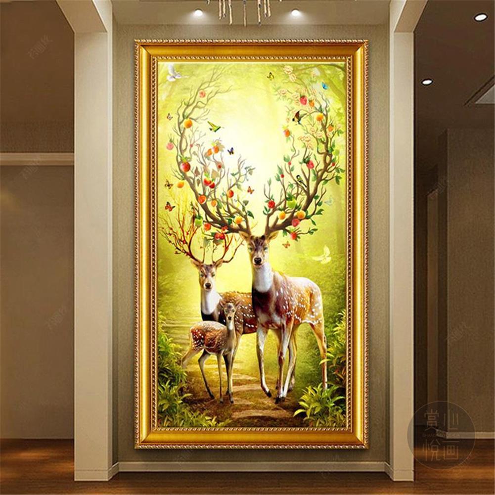 art-kit DIY 5D Diamond Painting Animal Deer Diamond Embroidery Cross Stitch Full Drill Christmas Gift Home office Wall Decoration HOB1804601 1 1