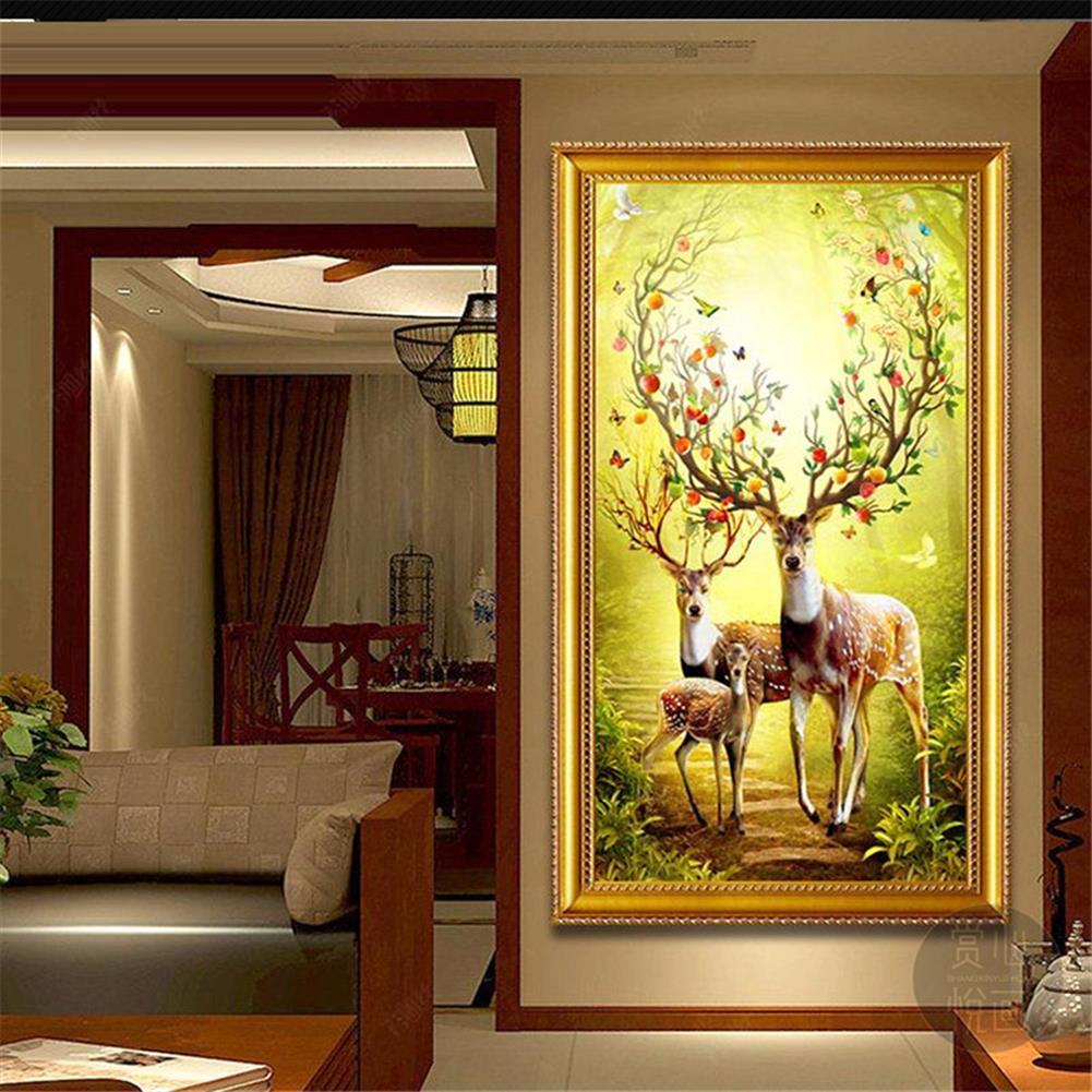 art-kit DIY 5D Diamond Painting Animal Deer Diamond Embroidery Cross Stitch Full Drill Christmas Gift Home office Wall Decoration HOB1804601 2 1