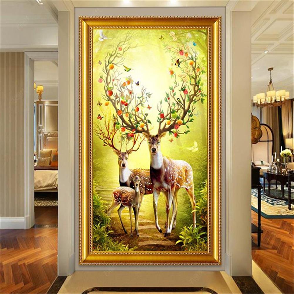 art-kit DIY 5D Diamond Painting Animal Deer Diamond Embroidery Cross Stitch Full Drill Christmas Gift Home office Wall Decoration HOB1804601 3 1