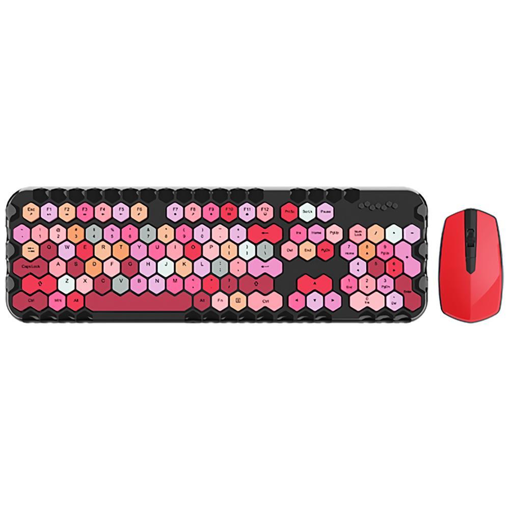 keyboards Mofii Honey Plus 2.4G Wireless Keyboard & Mouse Set 104 Keys Honeycomb Keycaps Keyboard office Mouse Combo for Laptop PC HOB1804956 1