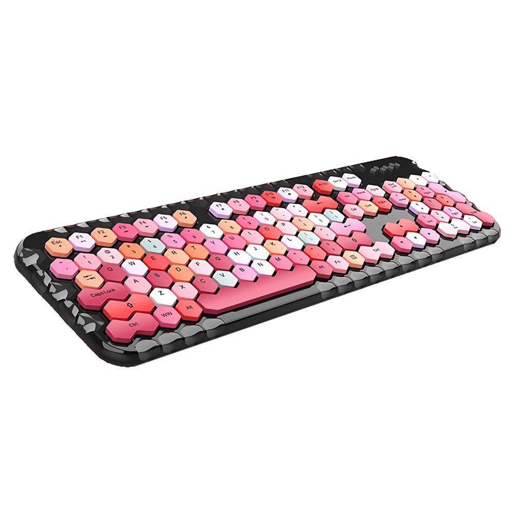 keyboards Mofii Honey Plus 2.4G Wireless Keyboard & Mouse Set 104 Keys Honeycomb Keycaps Keyboard office Mouse Combo for Laptop PC HOB1804956 1 1