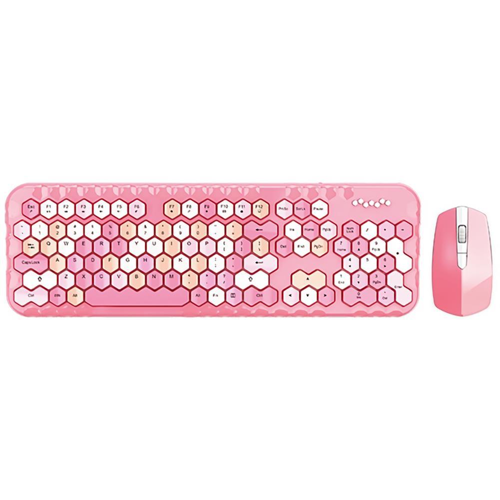 keyboards Mofii Honey Plus 2.4G Wireless Keyboard & Mouse Set 104 Keys Honeycomb Keycaps Keyboard office Mouse Combo for Laptop PC HOB1804956 2 1
