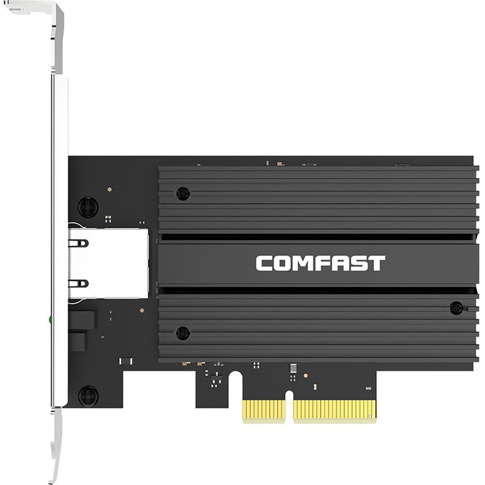 networking-adapters-antennas Comfast CF-P100 V2 PCIe Network Card AQC107 Chipset 2.5G 5G 10G Networking Adapter 10000M Port HOB1807730 1
