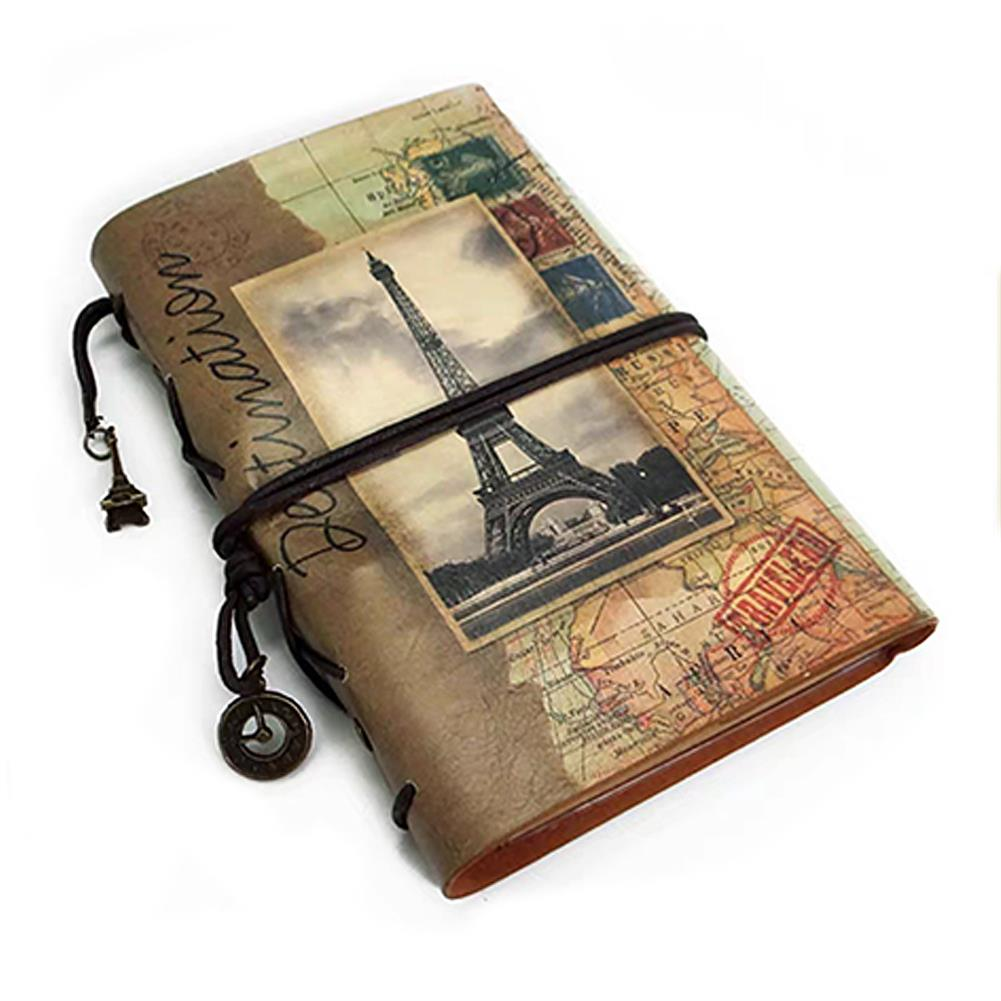 paper-notebooks A6 PU Leather Notebook Retro Binder Book Planner Sketching Book Agenda Diary Travel Notebooks Stationery School office Supplies HOB1810654 1 1