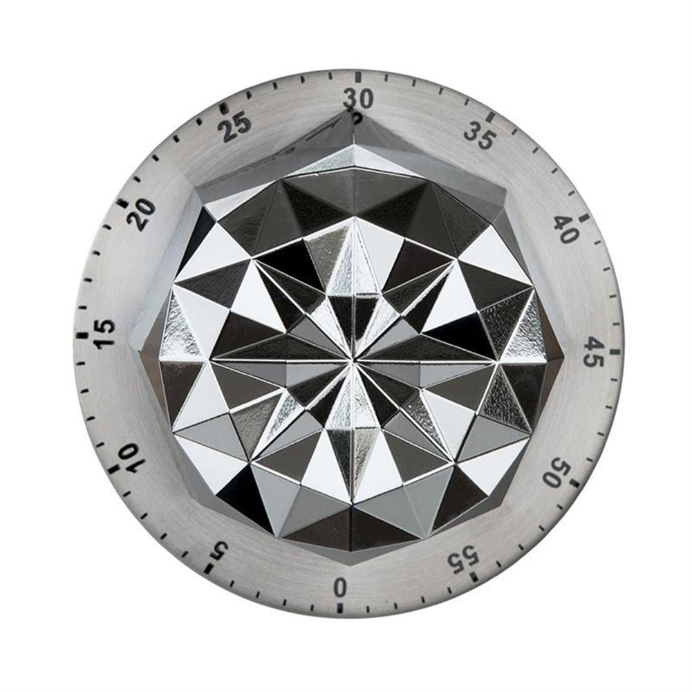 desktop-off-surface-shelves 1pc Stainless Steel Timer Flower Shape Mechanical Timer Countdown Reminder Magnetic Base Kitchen Cooking Study Exam Home Tool HOB1811166 1
