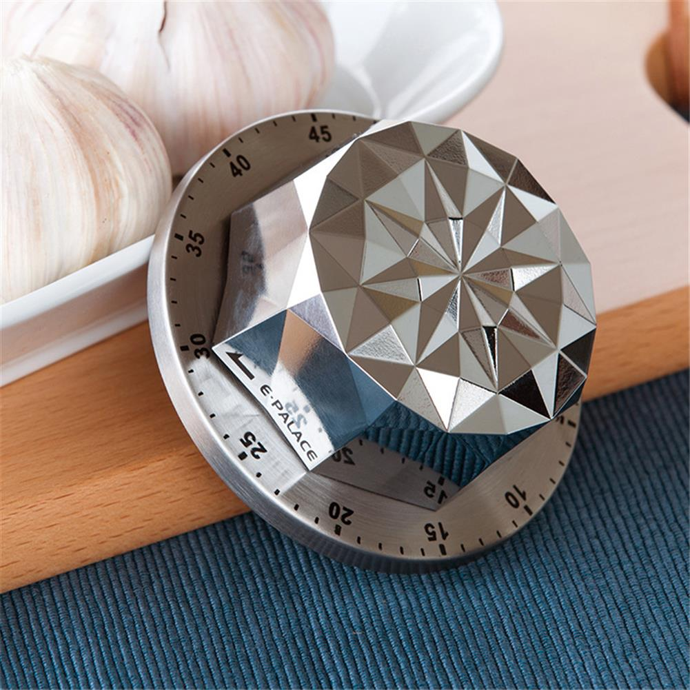 desktop-off-surface-shelves 1pc Stainless Steel Timer Flower Shape Mechanical Timer Countdown Reminder Magnetic Base Kitchen Cooking Study Exam Home Tool HOB1811166 1 1