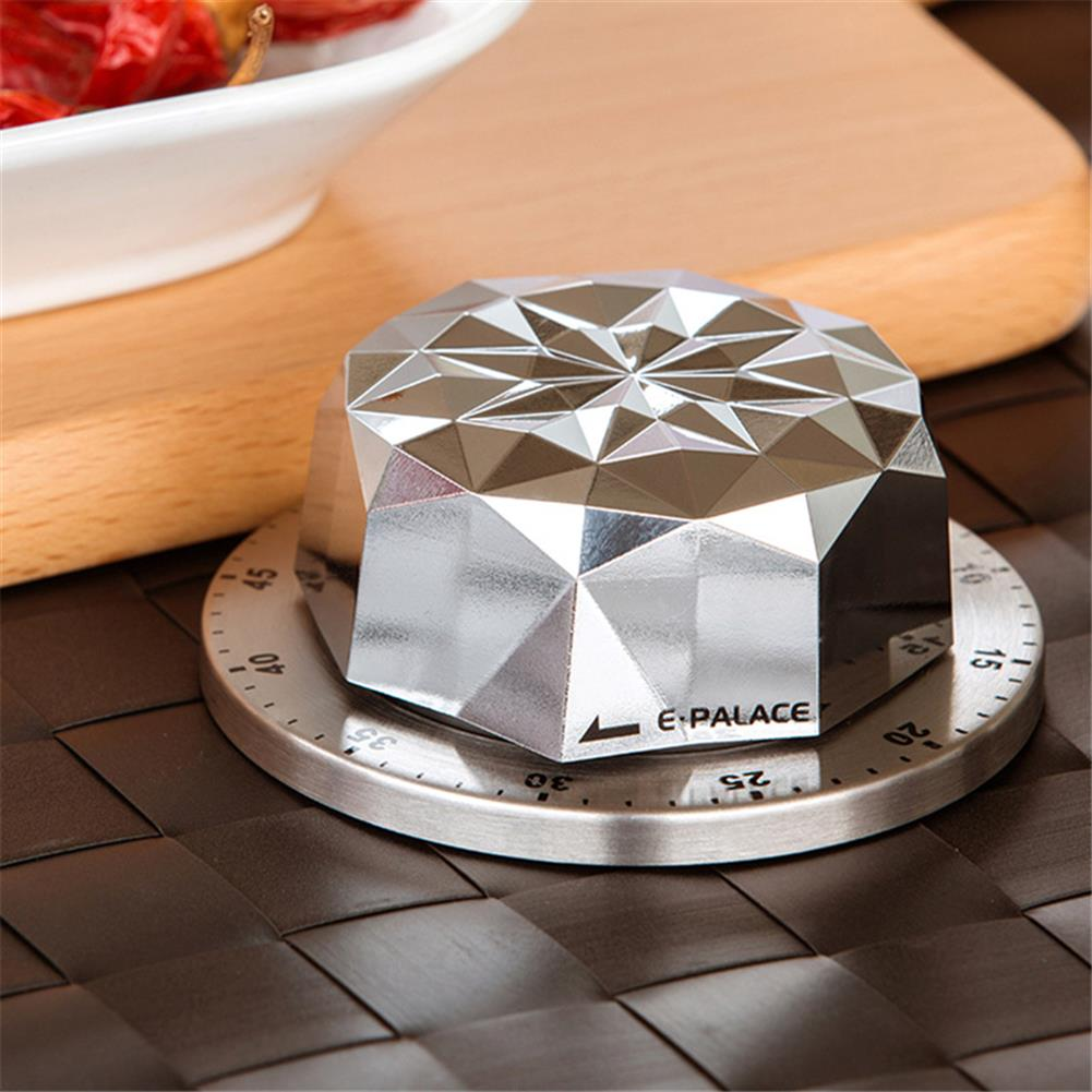 desktop-off-surface-shelves 1pc Stainless Steel Timer Flower Shape Mechanical Timer Countdown Reminder Magnetic Base Kitchen Cooking Study Exam Home Tool HOB1811166 3 1