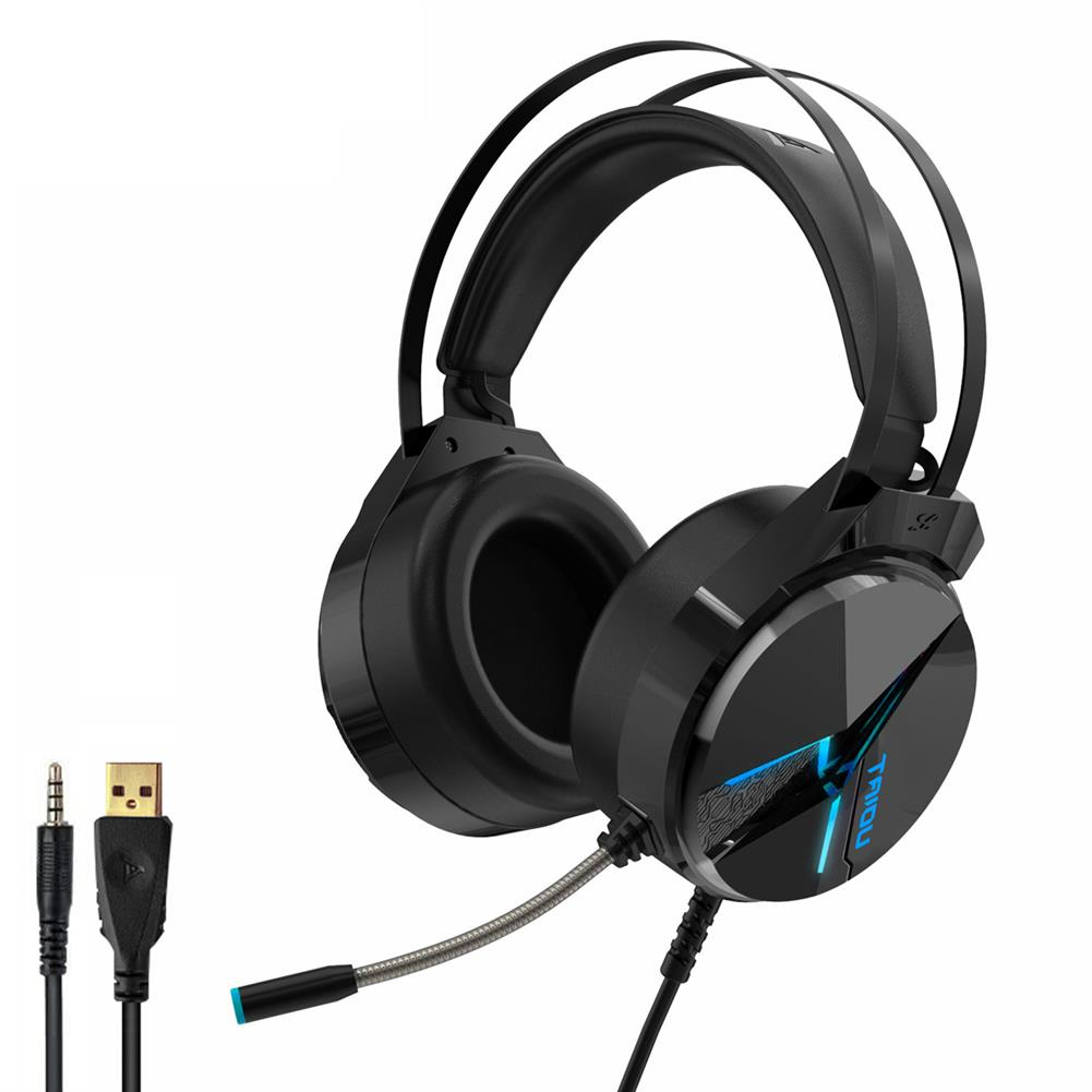 headphones TAIDU THS309 Game Headset 7.1 Channel / 3.5mm Wired Stereo Sound RGB Gaming Heaphones with Mic for Computer PC Gamer HOB1812984 1 1