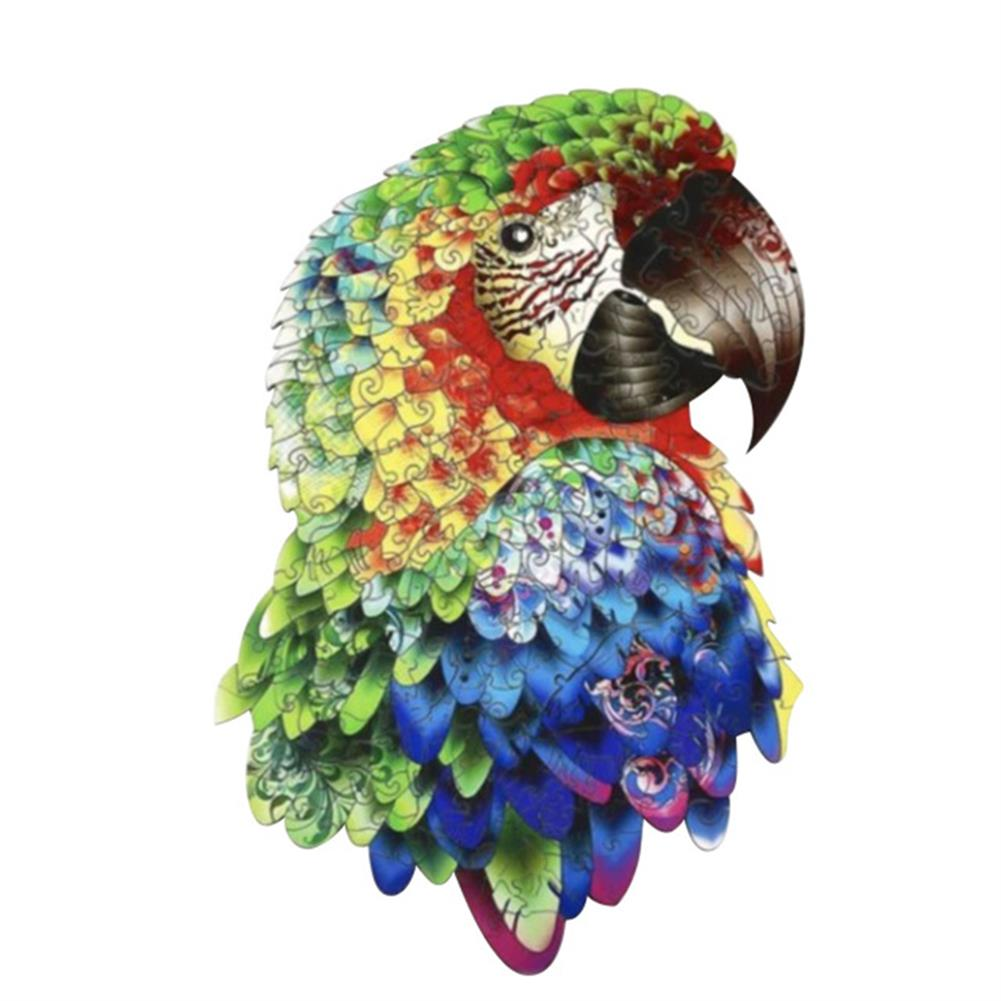 other-learning-office-supplies A3/A4/A5 Unique Shape Wooden Animal Parrot Puzzle Toy Jigsaw Pieces interactive Puzzle Gifts Art Toys Gifts for Family Game HOB1814364 1