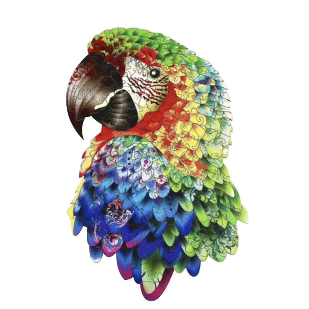 other-learning-office-supplies A3/A4/A5 Unique Shape Wooden Animal Parrot Puzzle Toy Jigsaw Pieces interactive Puzzle Gifts Art Toys Gifts for Family Game HOB1814364 1 1