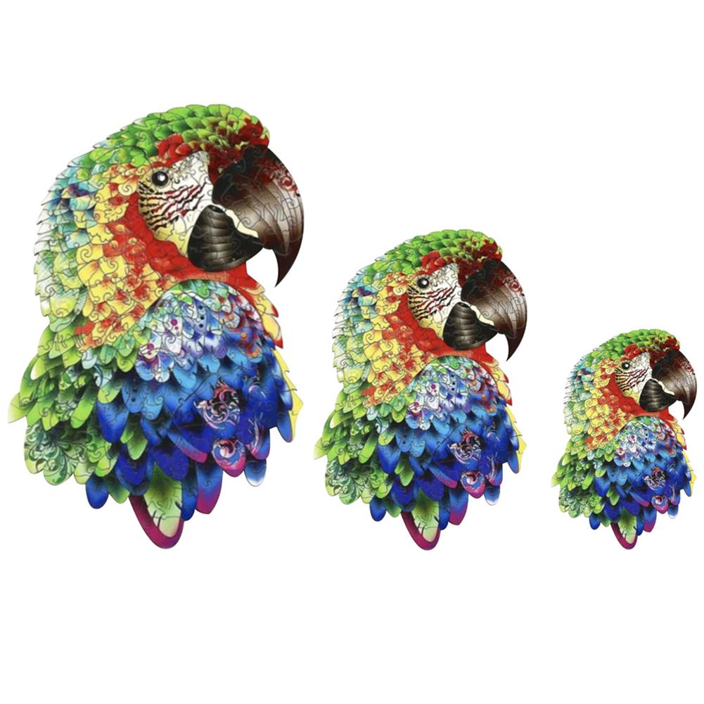 other-learning-office-supplies A3/A4/A5 Unique Shape Wooden Animal Parrot Puzzle Toy Jigsaw Pieces interactive Puzzle Gifts Art Toys Gifts for Family Game HOB1814364 2 1