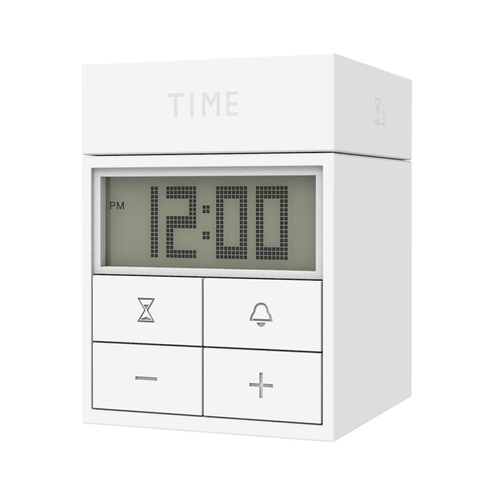 desktop-off-surface-shelves 3 in 1 Rotating Timer Large Screen Mini Portable Multifunctional Time Manager Alarm Clock Timer Study Cooking Supplies HOB1815724 3 1