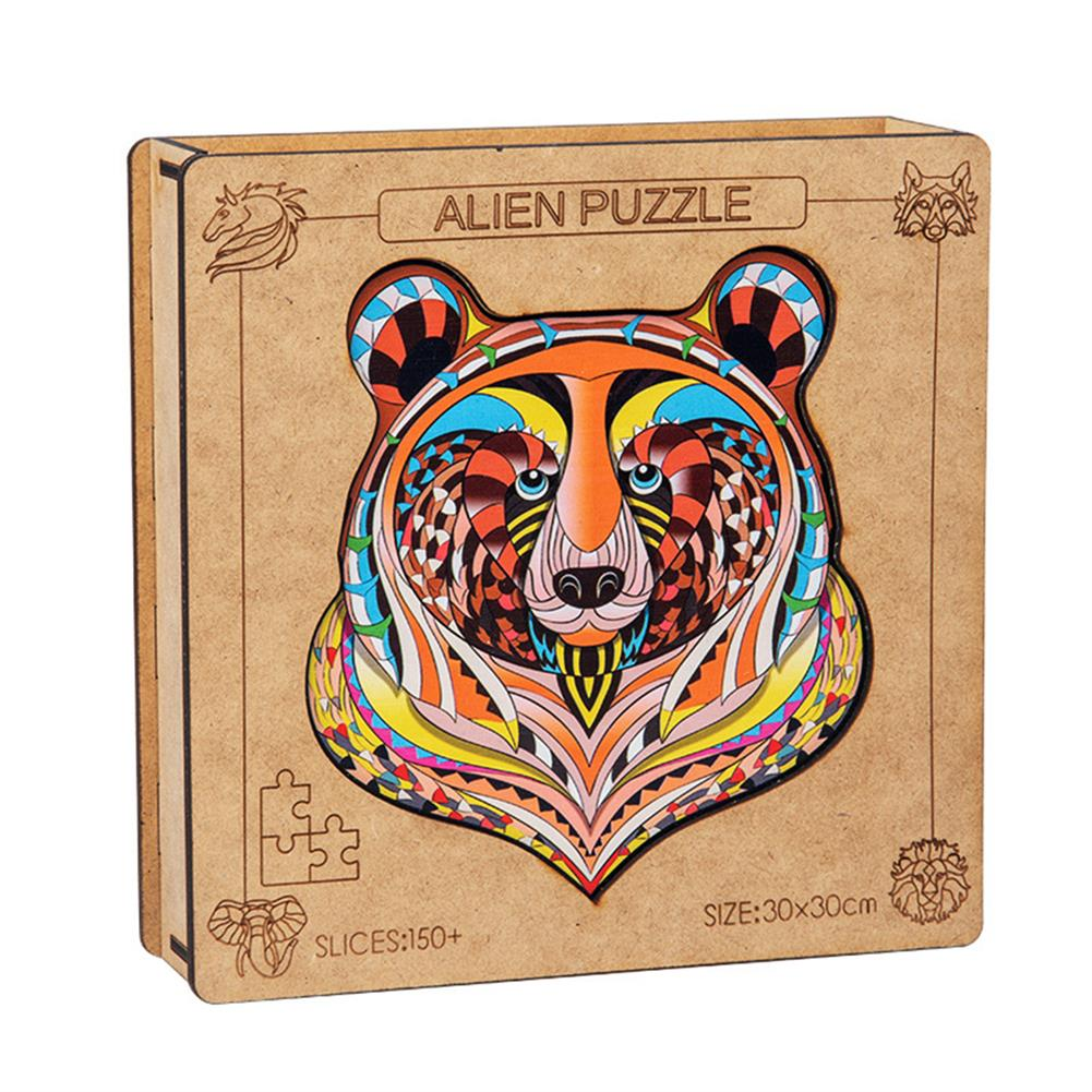 other-learning-office-supplies A3 3D Wooden Puzzle Animal Shape Colorful Mysterious Charming Early Education Puzzle Art Toys Gifts for Childrens Adults HOB1815748 1 1