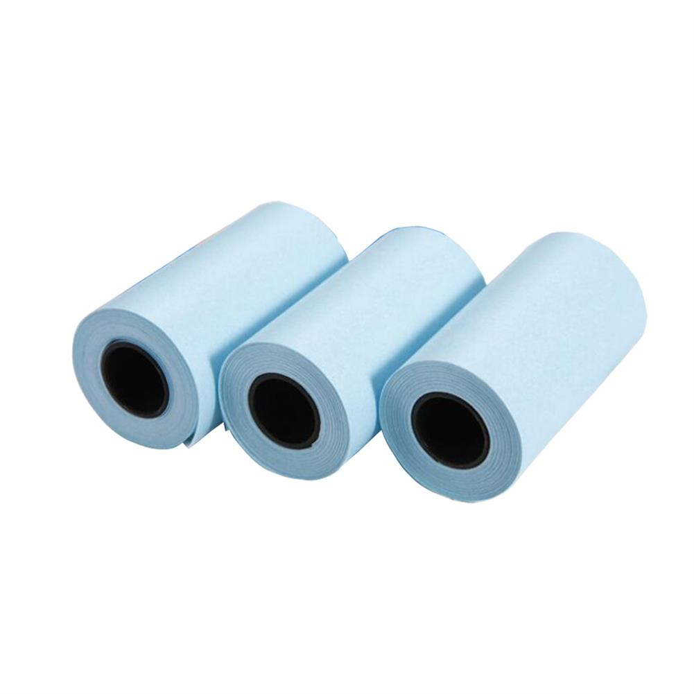 thermal-fax-paper 3 Rolls 57mm x 30mm White thermal Paper Sticker for thermal Printer HOB1816530 1