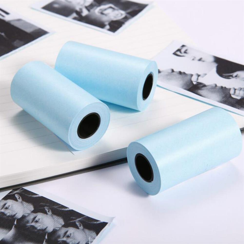 thermal-fax-paper 3 Rolls 57mm x 30mm White thermal Paper Sticker for thermal Printer HOB1816530 1 1