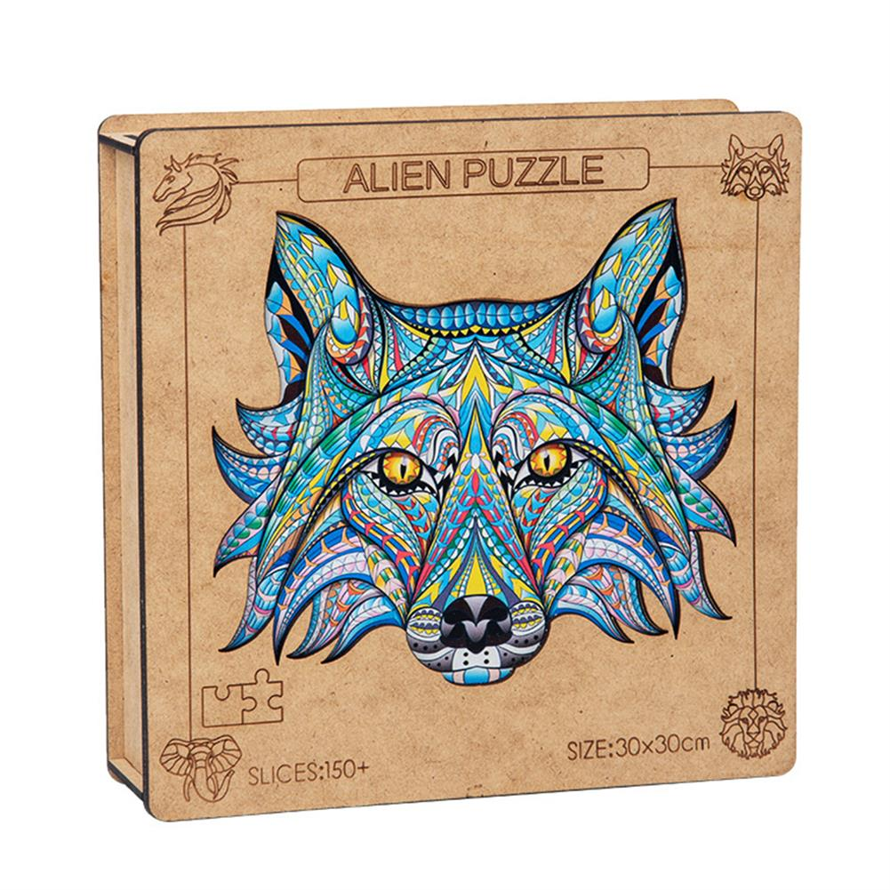 other-learning-office-supplies A3 3D Wooden Animal Pattern Puzzle Colorful Mysterious Charming Early Education Puzzle Art Toys Gifts for Childrens Adults HOB1816614 1