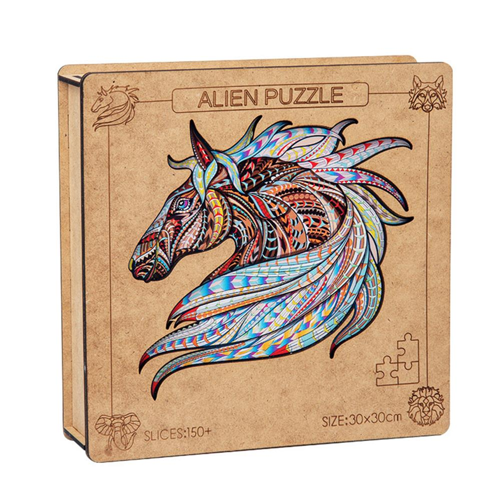 other-learning-office-supplies A3 3D Wooden Animal Pattern Puzzle Colorful Mysterious Charming Early Education Puzzle Art Toys Gifts for Childrens Adults HOB1816614 1 1