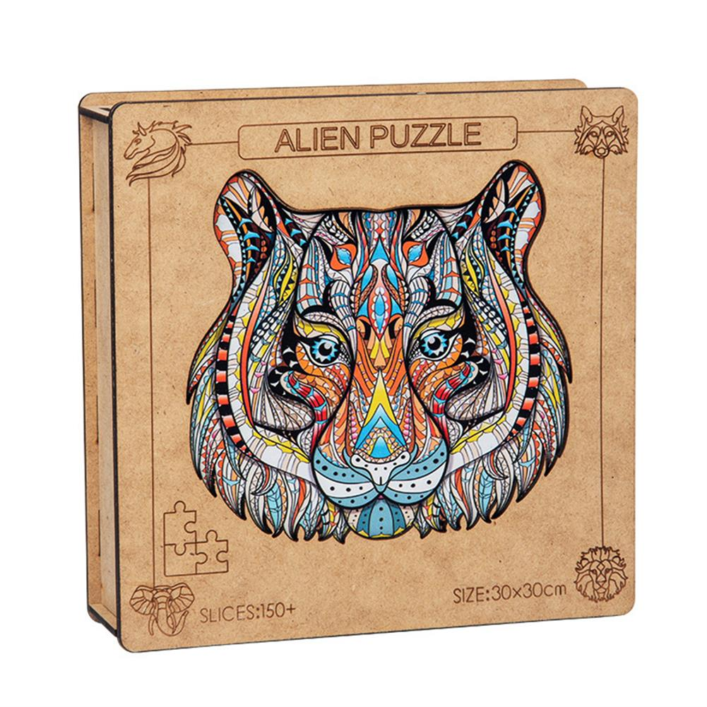 other-learning-office-supplies A3 3D Wooden Animal Pattern Puzzle Colorful Mysterious Charming Early Education Puzzle Art Toys Gifts for Childrens Adults HOB1816614 2 1